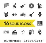 melody icons set with chimes ... | Shutterstock . vector #1596471955