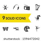 hobby icons set with making toy ...