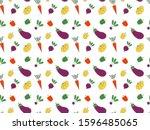 seamless pattern of contour... | Shutterstock .eps vector #1596485065