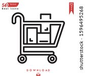 shopping cart icon vector ....