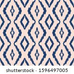 ikat geometric folklore... | Shutterstock .eps vector #1596497005
