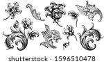 vintage spring flower summer... | Shutterstock .eps vector #1596510478