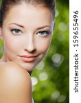 close up portrait of sexy... | Shutterstock . vector #159655496