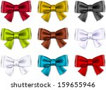 set of colorful satin bows.... | Shutterstock .eps vector #159655946