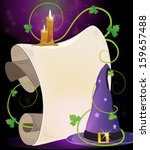Witch Hat With Parchment And...