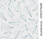 Airplane Pattern. White Paper...