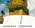 The Upper Part Of The Stupa In...