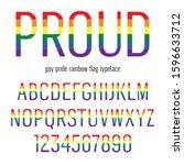 multicolored celebrate pride... | Shutterstock .eps vector #1596633712