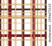 gold chains tartan seamless... | Shutterstock .eps vector #1596672115