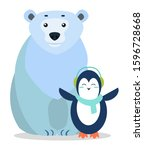 Arctic Animals Penguin And Bear ...