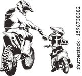 Motocross Vector Ink   Dad And...