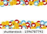 abstract social emotions... | Shutterstock .eps vector #1596787792