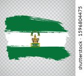 flag of andalusia brush strokes....