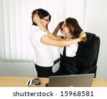 two attractive business woman... | Shutterstock . vector #15968581