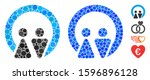 marriage mosaic of round dots... | Shutterstock .eps vector #1596896128