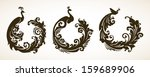 vector set ornamental frames...