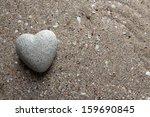 Grey Stone In Shape Of Heart ...