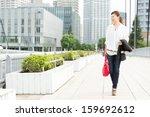 beautiful business woman...   Shutterstock . vector #159692612