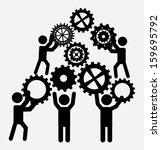 teamwork design  over white... | Shutterstock .eps vector #159695792
