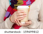 Hot Drink In Paper Cup In Hand...