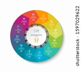 infographic process chart....   Shutterstock .eps vector #1597029622