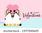 happy valentine's day greeting... | Shutterstock .eps vector #1597040605