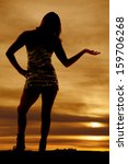 a silhouette of a woman... | Shutterstock . vector #159706268