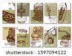 coffee illustration. hand drawn ...   Shutterstock .eps vector #1597094122