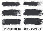 set of grunge brush strokes... | Shutterstock .eps vector #1597109875
