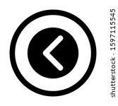 back icon isolated sign symbol...
