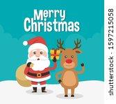 merry christmas  merry... | Shutterstock .eps vector #1597215058