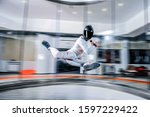 recreation. skydiving as a way... | Shutterstock . vector #1597229422