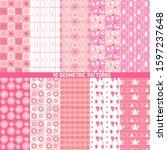 seamless geometric patterns set ... | Shutterstock .eps vector #1597237648