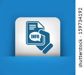 info button icon   Shutterstock .eps vector #159734192