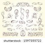 elegant elements of design... | Shutterstock .eps vector #1597355722