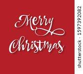 merry christmas vector... | Shutterstock .eps vector #1597392082