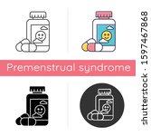 antidepressant icon. depression ... | Shutterstock .eps vector #1597467868