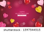 happy valentines day with love... | Shutterstock .eps vector #1597544515
