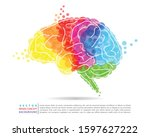 Colorful Brain Image Concept In ...