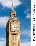Big Ben Clock Tower  London  Uk.