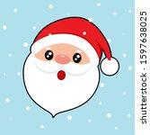 santa claus. christmas...   Shutterstock .eps vector #1597638025