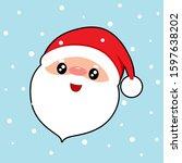 santa claus. christmas... | Shutterstock .eps vector #1597638202