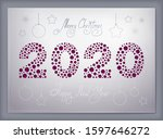 2020 new year ruby logo with... | Shutterstock .eps vector #1597646272