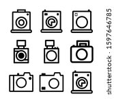 camera icon isolated sign...   Shutterstock .eps vector #1597646785