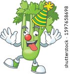 funny clown celery plant on...   Shutterstock .eps vector #1597658698