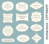 vintage frame collection.... | Shutterstock .eps vector #159768695