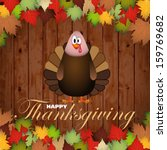 happy thanksgiving cartoon... | Shutterstock .eps vector #159769682