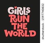 girls run the world flat hand...   Shutterstock .eps vector #1597740832