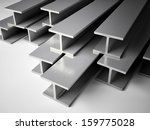 3d image of structural steel | Shutterstock . vector #159775028