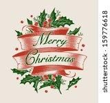 Vintage Engraving Christmas Ar...